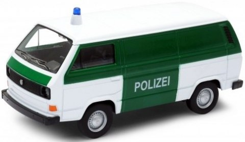 WELLY Model - VOLKSWAGEN T3 VAN Polizei 1:34